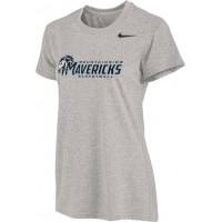 Mountainside Youth Basketball 22: Nike Women's Legend Short-Sleeve Training Top - Gray