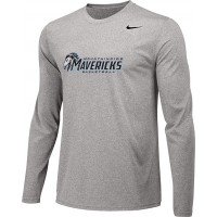 Mountainside Youth Basketball 23: Adult-Size - Nike Team Legend Long-Sleeve Crew T-Shirt - Gray