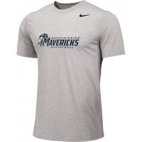 Mountainside Youth Basketball 20: Adult-Size - Nike Team Legend Short-Sleeve Crew T-Shirt - Gray