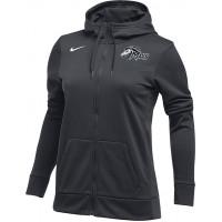 Mountainside Youth Basketball 30: Nike Women's Therma Fleece Full Zip Hoodie - Anthracite Gray