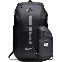Mountainside Youth Basketball 36: Nike Hoops Elite Pro Backpack - Anthracite Gray with Uniform Number